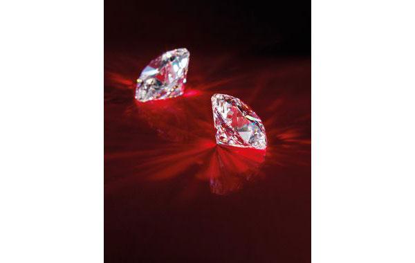 A pair of 35.77 and 35.61-carat D colour Diamond