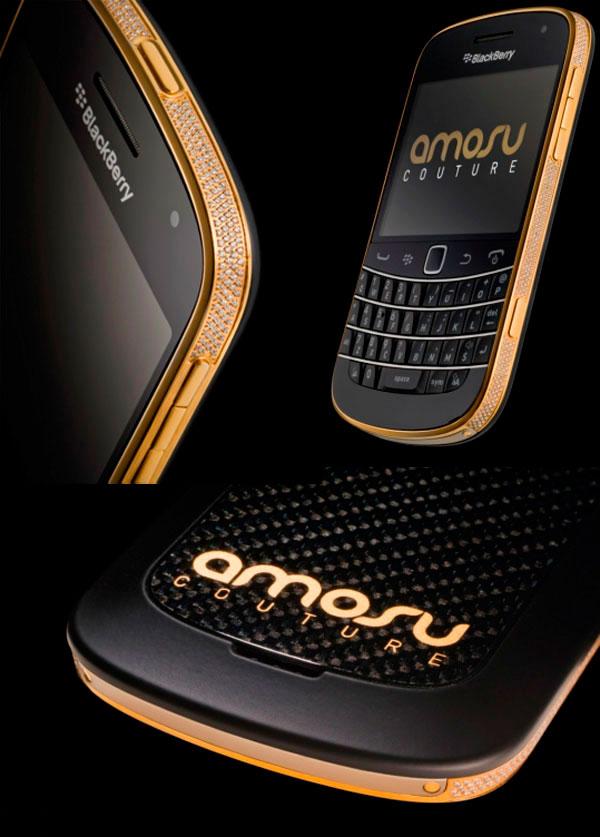 BlackBerry Gold Swarovski Bold 9900 by Amosu Couture
