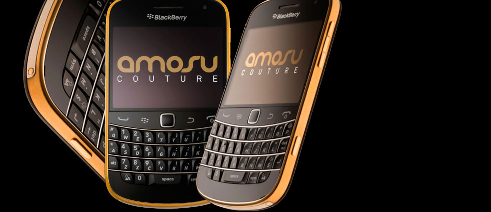 Gold Blackberry Bold 9900 with Swarovski Crystal