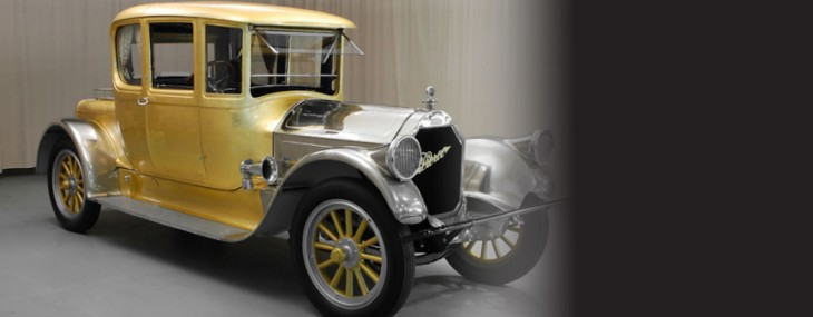Antique Gold Plated 1920 Pierce-Arrow 48 Coupe For $300,000