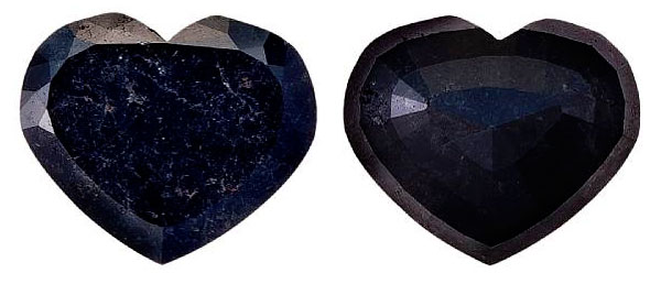 98-carat Heart-shaped Black Diamond
