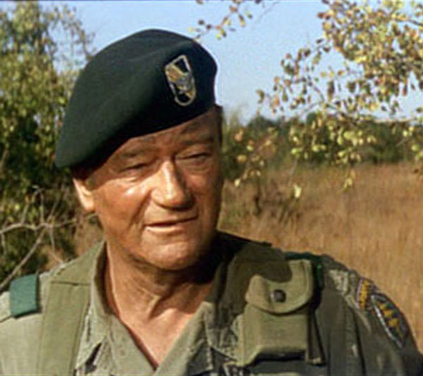 John Wayne in The Green Berets