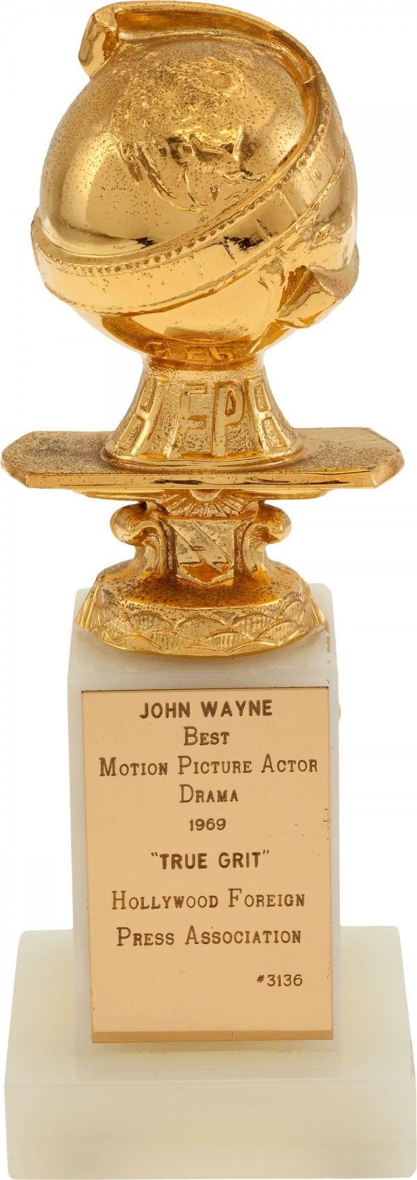 John Wayne's Golden Globe Award for True Grit Movie