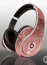 Limited edition Swarovski Light Rose Dr Dre Beats Studio Headphones