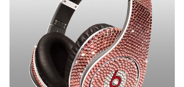 Limited edition Dr Dre Beats Studio Headphones Swarovski Light Rose