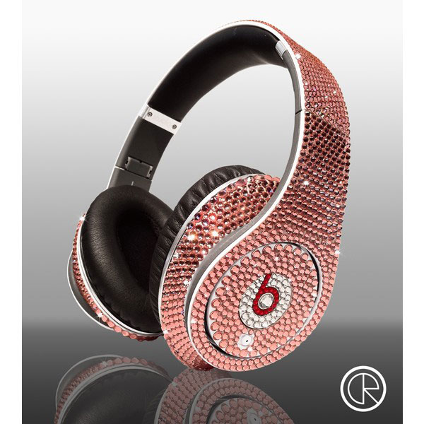 Limited edition Swarovski Light Rose Dr Dre Beats Studio Headphones