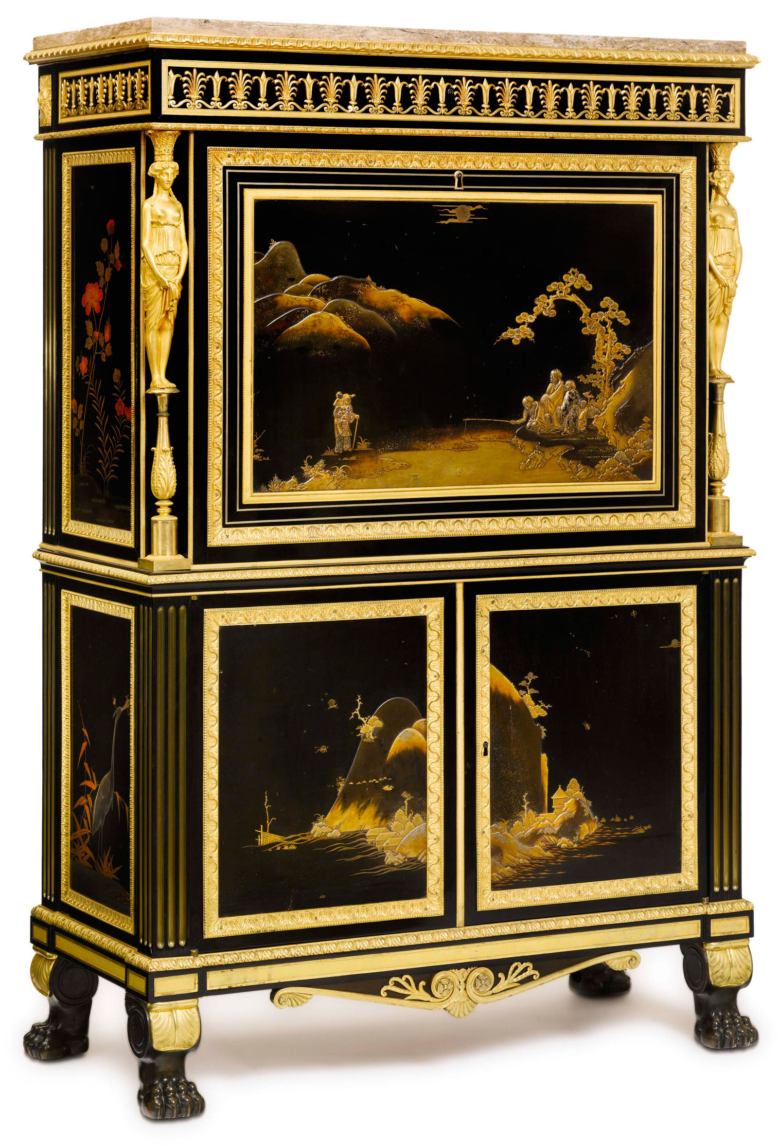 louis xvi ormolu mounted japanese lacquer commode. Black Bedroom Furniture Sets. Home Design Ideas