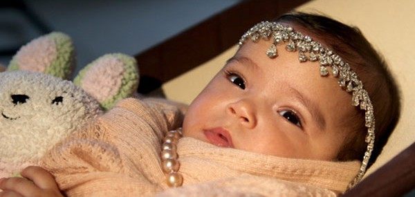 Mariah Carey Drapes Baby with Diamond Tiara
