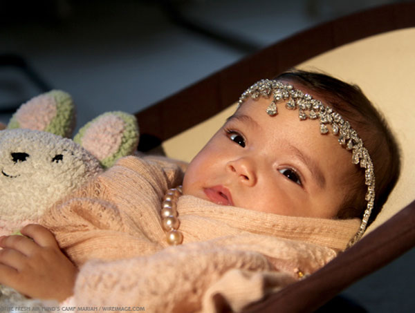 Mariah Carey&#8217;s Baby Poses with Diamond Tiara