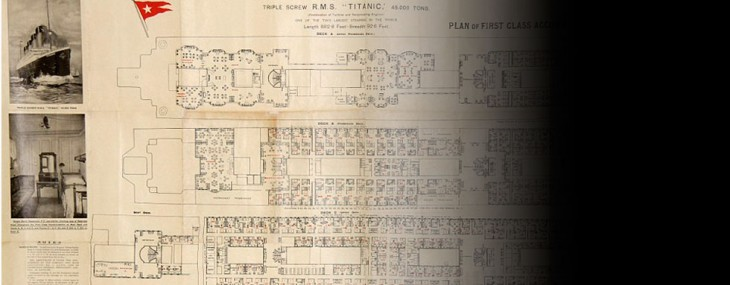 Original Titanic First Class Deck Plan