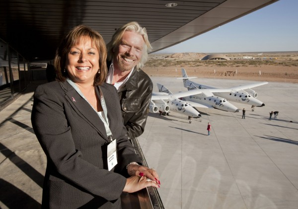 Spaceport America dedication with Sir Richard Branson and New Mexico Governor Susana Martinez