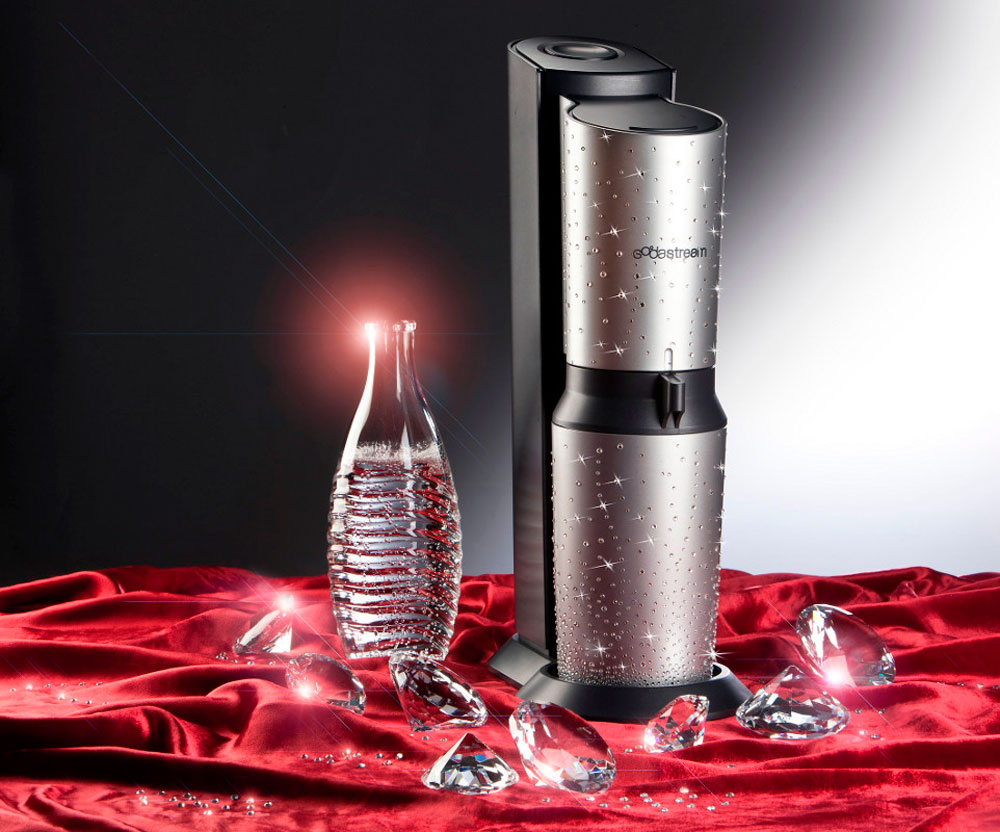 sodastream swarovski encrusted soda maker add bling to your kitchen extravaganzi. Black Bedroom Furniture Sets. Home Design Ideas