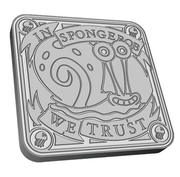 Spongebob Squarepants Silver Coin Set