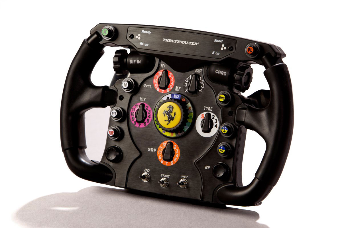 thrustmaster ferrari f1 racing wheel for unique racing experience extravaganzi. Black Bedroom Furniture Sets. Home Design Ideas