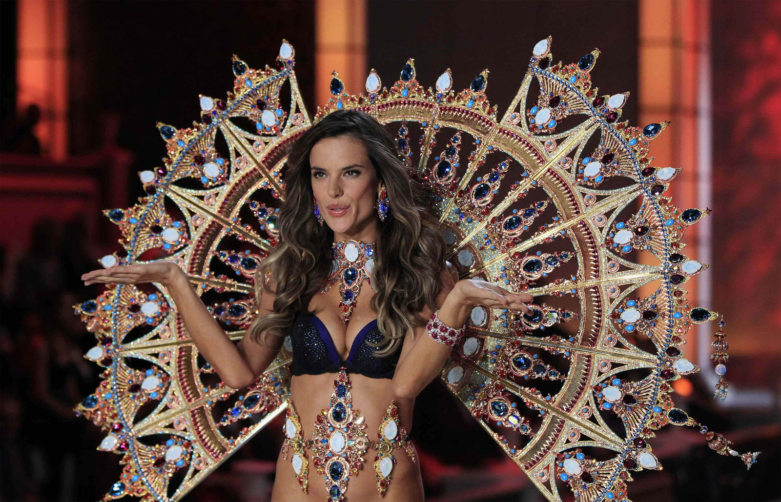 Alessandra Ambrosio at Victoria's Secret Fashion in New York