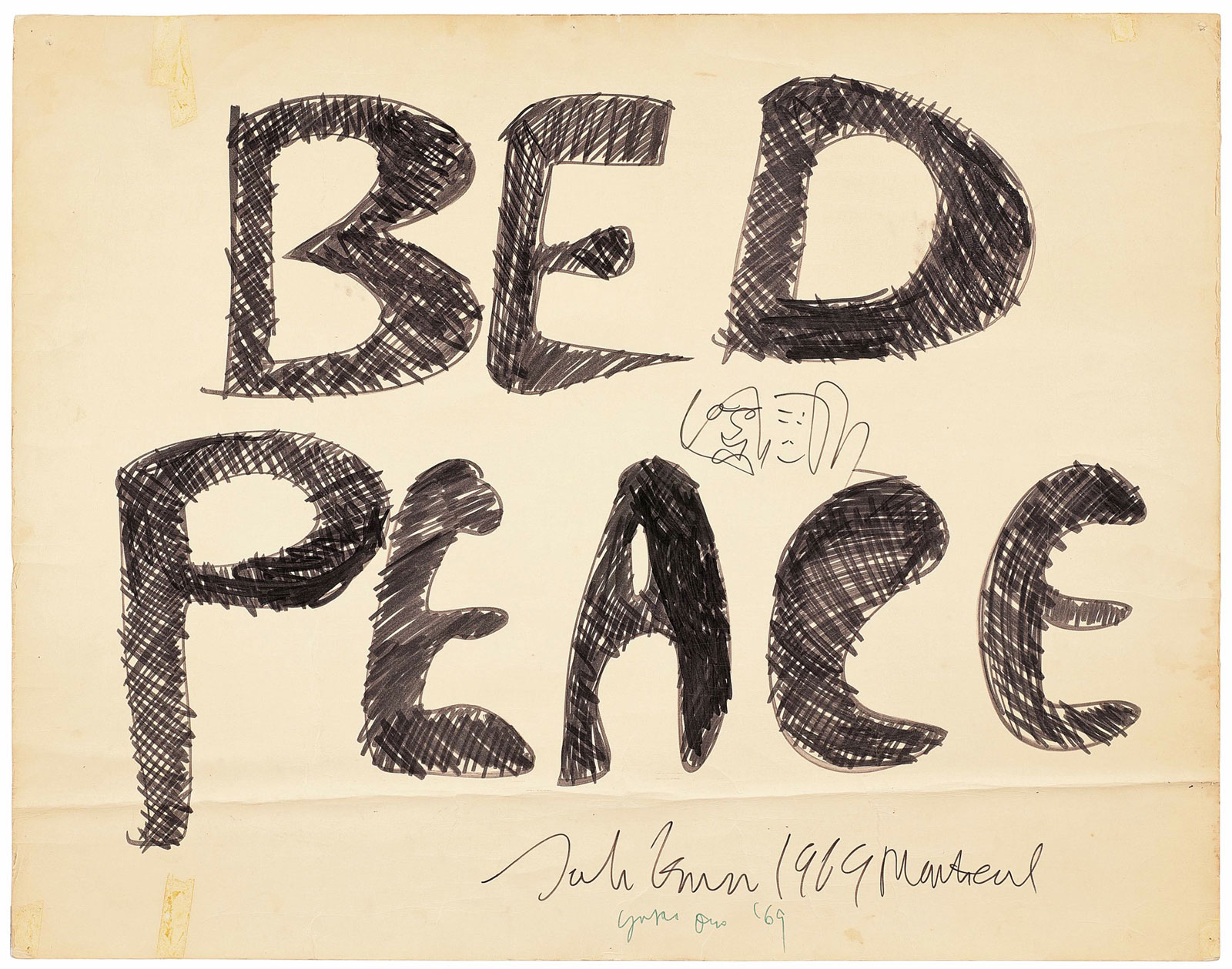BED PEACE executed by John Lennon