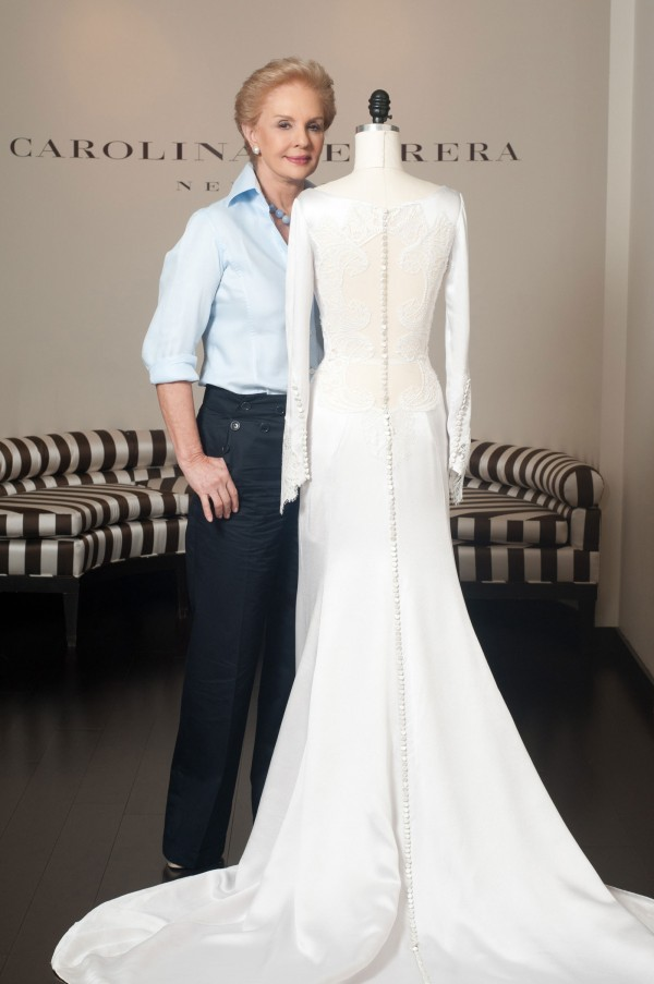 Carolina Herrera with Bella Swan's Twilight Wedding Dress