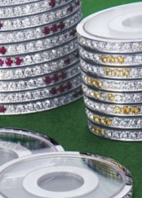 Diamond studded poker chip set by Stahl