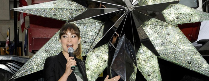 2011 Swarovski Crystal Star for Rockefeller Center Christmas Tree Unveiled by Olivia Wilde