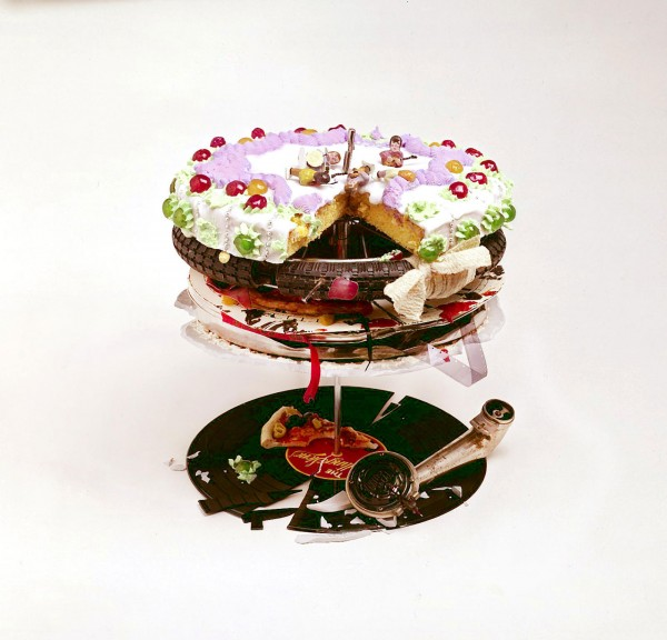 The cover of the Rolling Stones' Let it Bleed by Robert Brownjohn