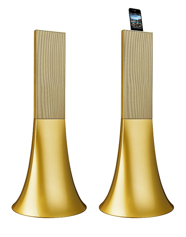 Parrot Ancient Gold Zikmu Speakers by Philippe Starck &#8211; Limited Edition