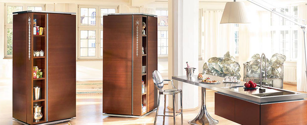 Philippe Starck&#8217;s Tower Kitchen for Warendorf Elegantly Saving Your Space