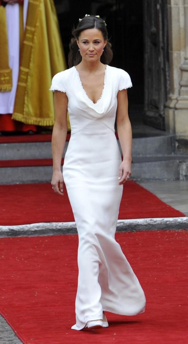 Pippa Middleton in Sarah Burton for Alexander McQueen Dress