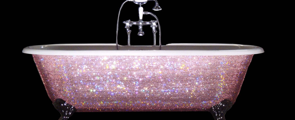 Swarovski Crystal Baby Bathtub