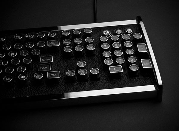 The Great Industrialist Chrome Keyboard by Datamancer