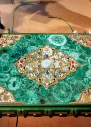 The World's largest Quran features gold, silver and precious stones