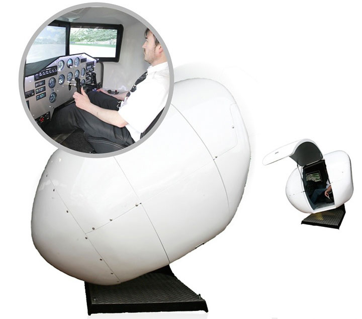 Experience A Real Sense Of Flying With The OVO-4 Home Flight Simulator