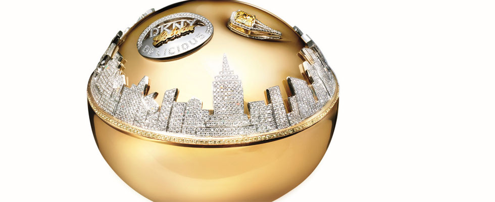 DKNY Golden Delicious Million Dollar Fragrance Bottle