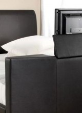 Relax in Style and Comfort in LeatherTVBed