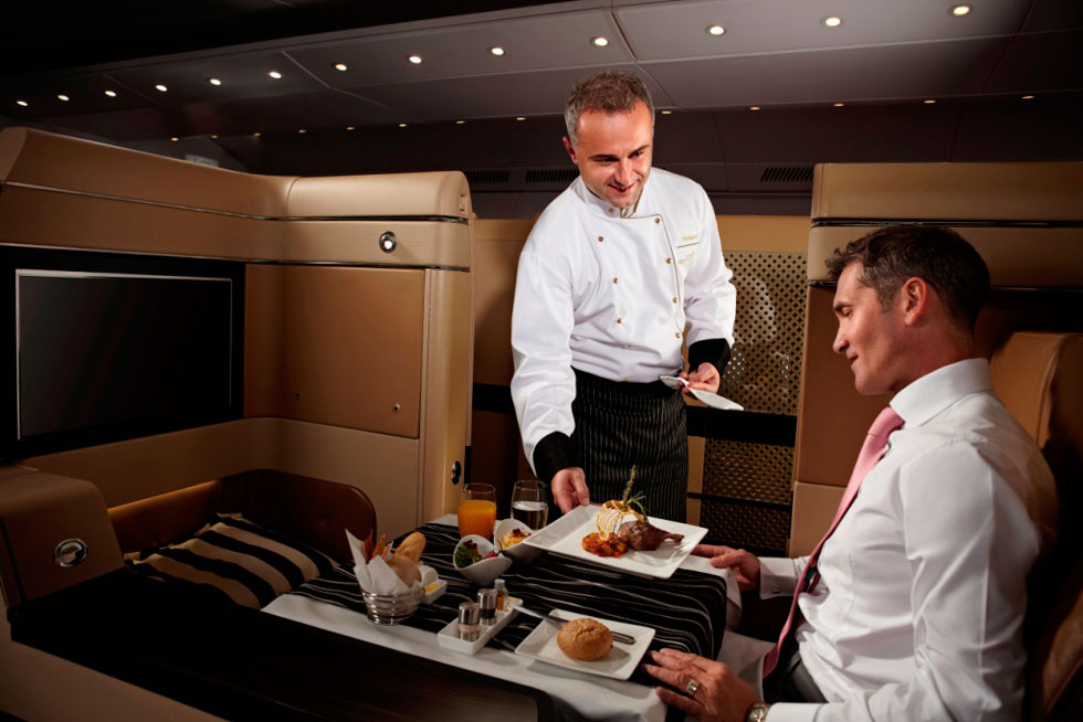 Etihad Airway Put First Class Chefs on Its Planes