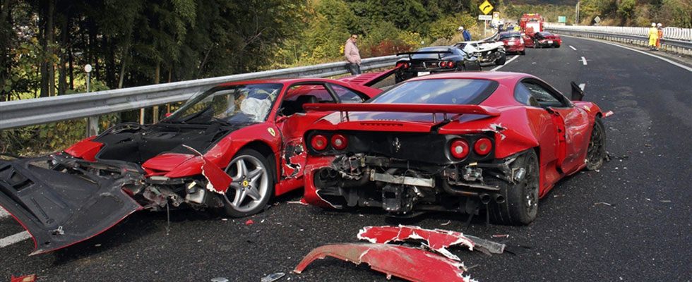 The World's Most Expensive Car Crash