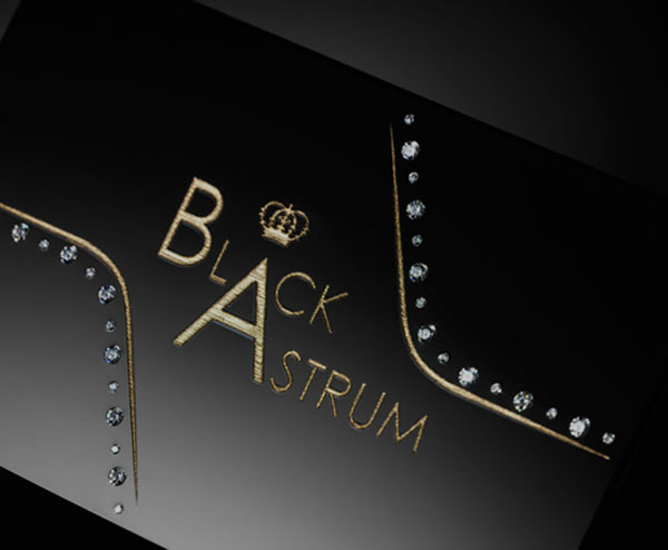 Black Astrum Diamond Encrusted Signature Business Cards