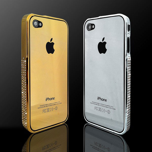 Gold-plated back plate and bumper for iPhone 4/4S by CrystalRocked
