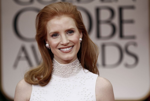 Jessica Chastain at Golden Globe Awards