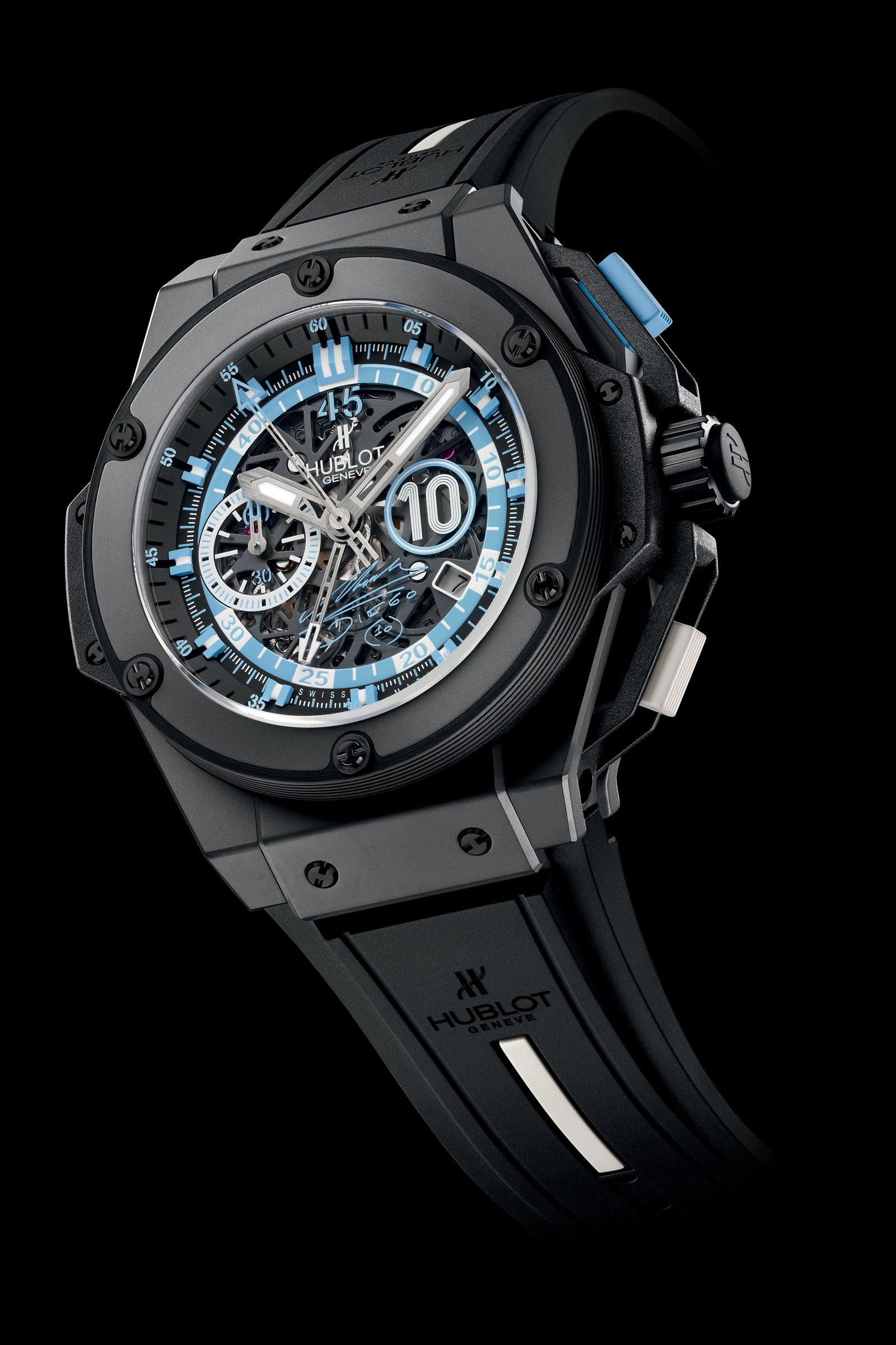 Limited edition hublot king power diego maradona watch extravaganzi for Hublot watches