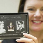 Limited Edition Queen Elizabeth II Diamond Jubilee Stamps with Real Diamonds