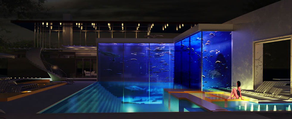 The Backyard Aquatic Complex by Okeanos Will Allow You to Swim with the Shark