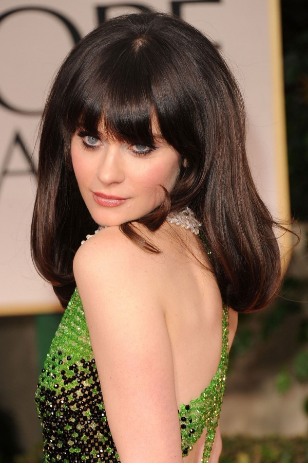 Zooey Deschanel at Golden Globe Awards