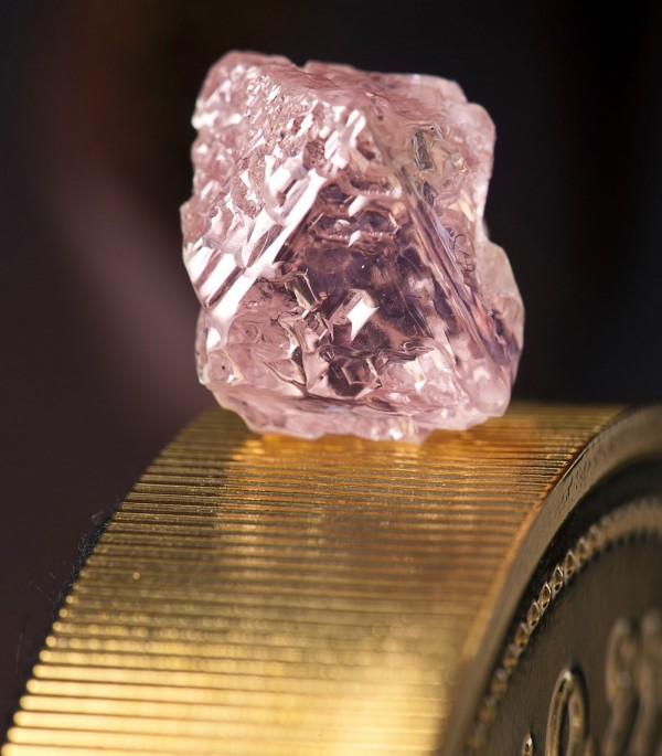An Argyle Pink Jubilee diamond found by mining giant Rio Tinto is being cut and polished in Perth