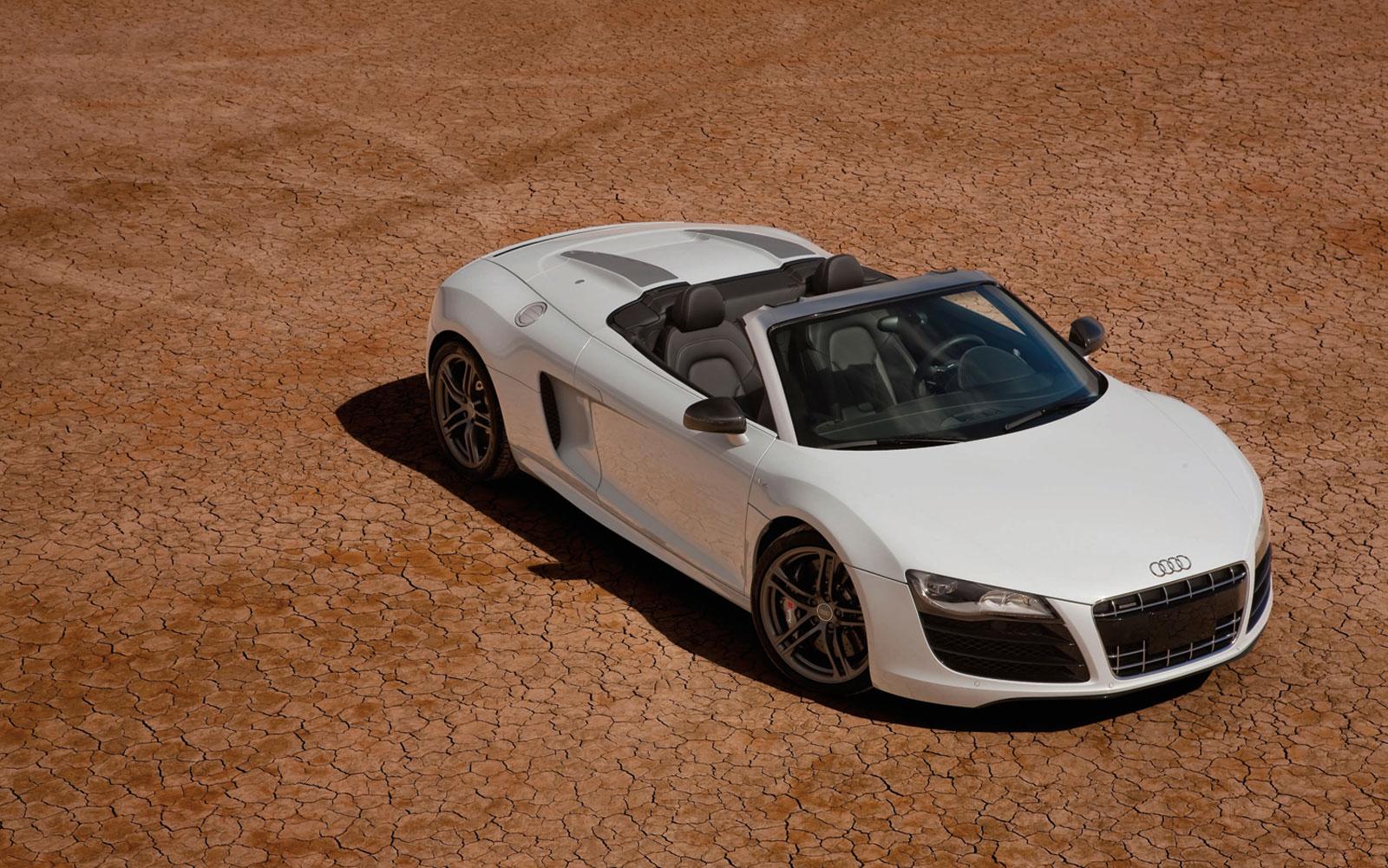 Audi R8 Spyder Wallpaper White