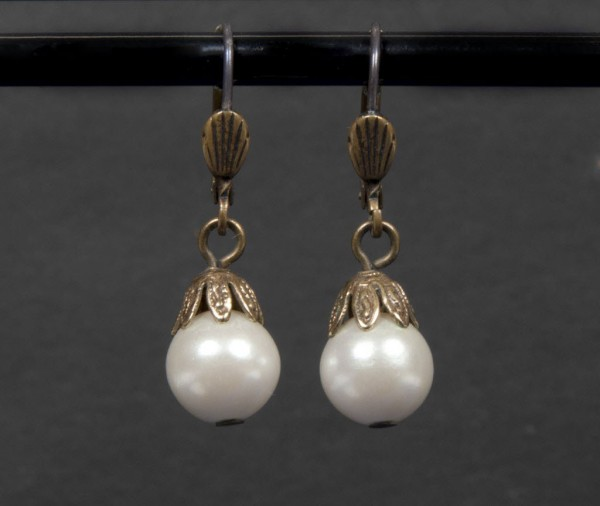 A pair of pearl drop earrings worn by Whitney Houston in the movie The Bodyguard