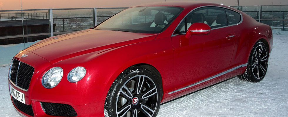 New Bentley Continental V8 Makes Dramatic Debut Over Munich
