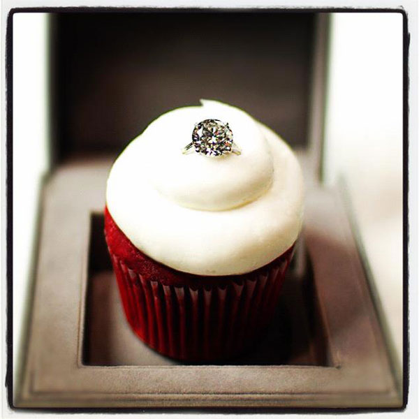 Cupcakes Gourmet Unveils Sparkling Red Velvet CupcakeTopped with a Diamond Ring