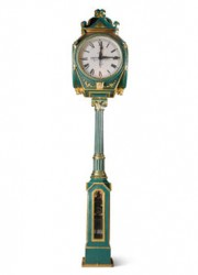 E. Howard Four Dial Painted Cast Iron Eight Day Post Clock