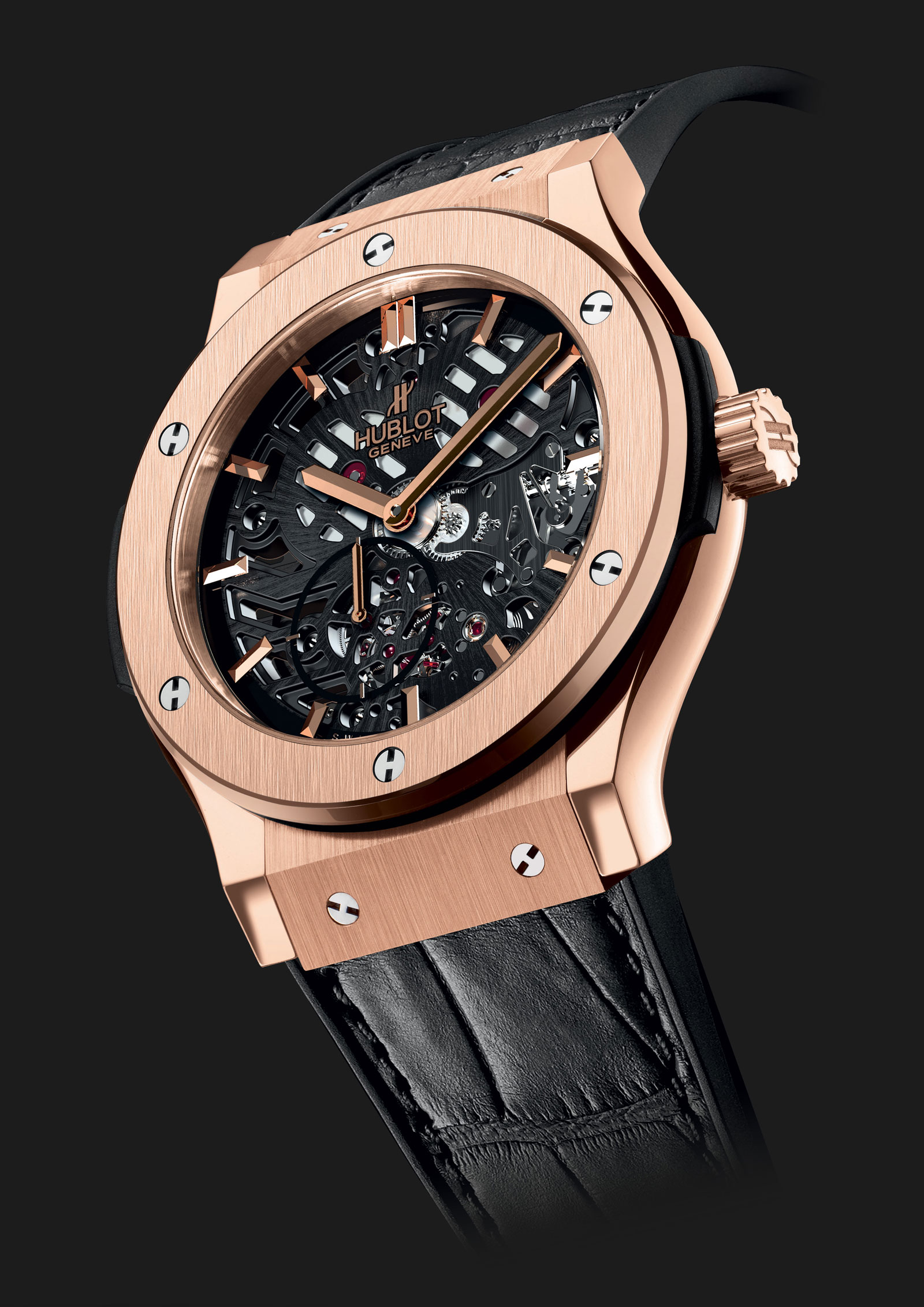 hublot 39 s classic fusion extra thin skeleton watch extravaganzi