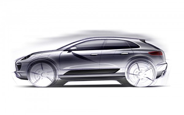 First sketchy look at new Porsche Macan SUV